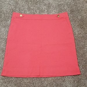 🔥 Ann Taylor Coral Skirt with Pockets